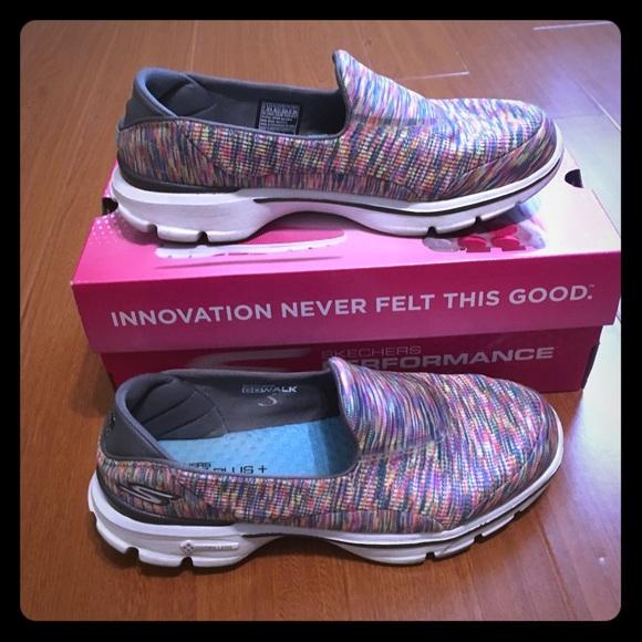 Skechers Womens Goga Plus Slip On Shoes